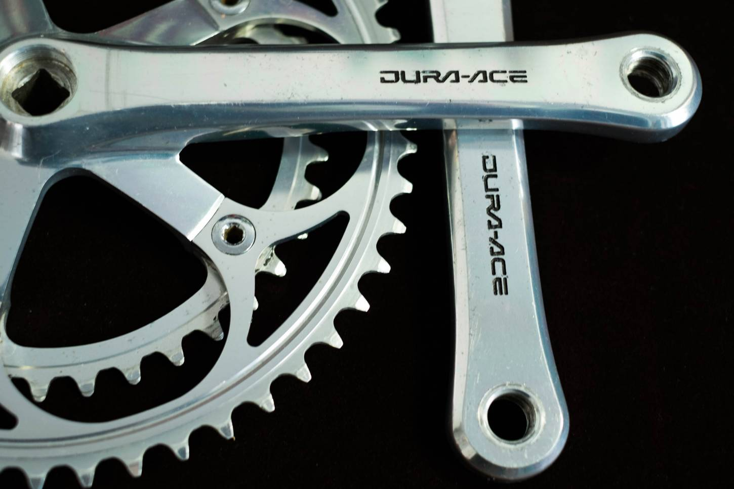 Pédalier Shimano Dura Ace FC-7402 170 mm 2 compartiments 52/39 dents 130 LK Vintage Road Bike
