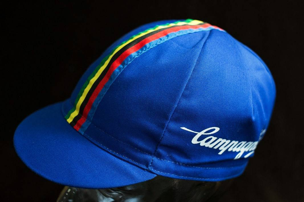 "Campagnolo ""Cycling Cap"" visor cap Cyclist cap with world champion stripes"