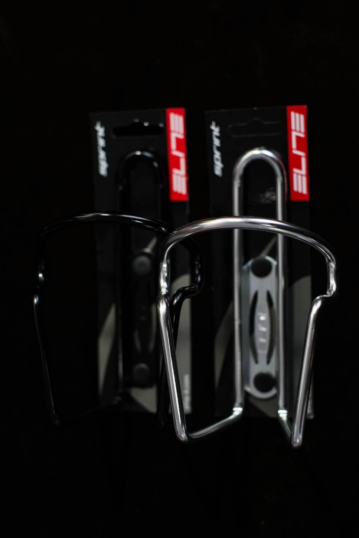 Elite Sprint Flaschenhalter Aluminium Trink Flaschen Halter silber + black