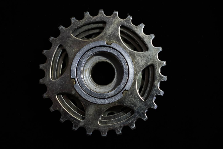 Shimano Dura Ace Schraubkranz Freewheel 6 Fach First Gen. gold 14-26 T FA-110 Vintage