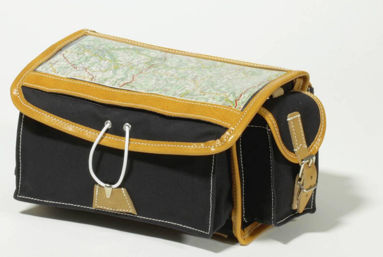 Gilles Berthoud 86 borsa a manubrio borsa a manubrio anteriore nera borsa a manubrio