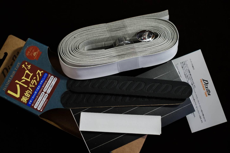 DIXNA Earth Lenkerband Leder Optik Handlebar Tape black + brown + white