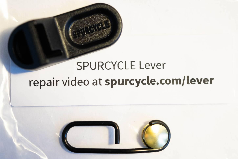 Spurcycle Original Bell Edelstahlklingel Ersatzteile Hebel schwarz