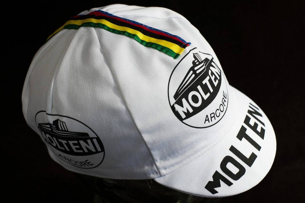 "Molteni cap ""Cycling Cap"" peaked cap cycling cap with world champion strip"