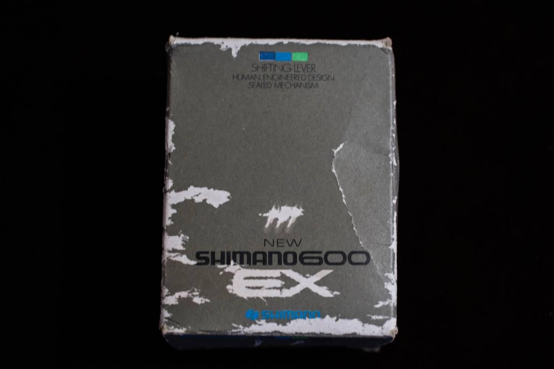 NOS Shimano 600 EX Schalthebel Shifters SL-6207 Unterrohr mit Schelle Vintage Rennrad