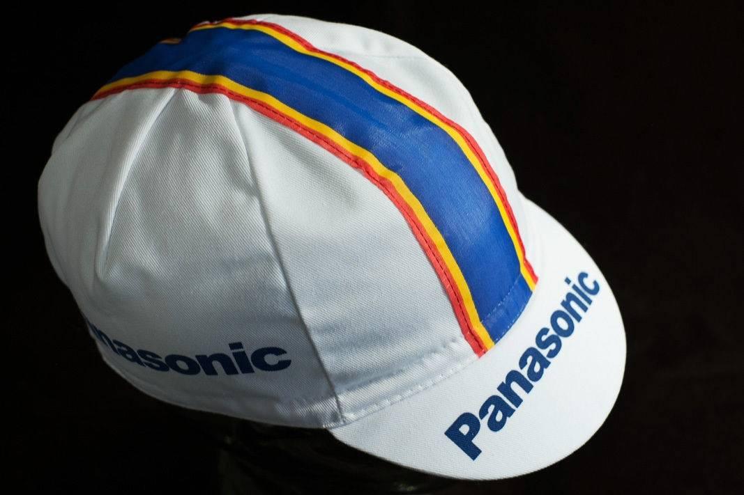 """Panasonic Kappe """"Cycling Cap"""" Schirmmütze Radlermütze mit Weltmeisterstreifen"""