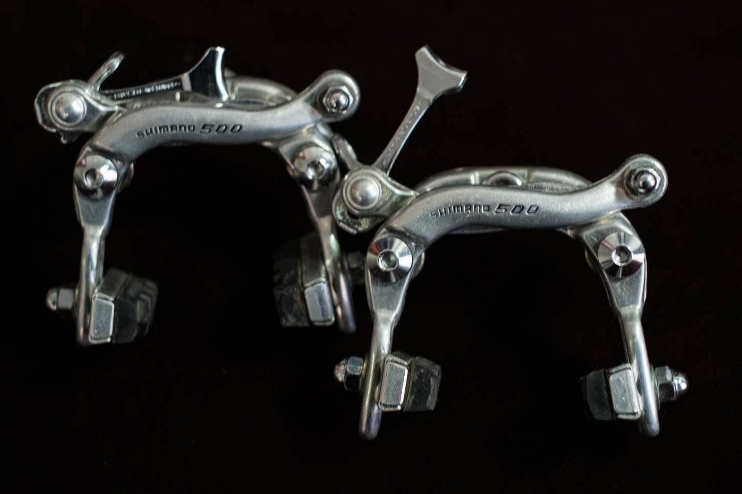 Shimano 500 mid-pull brake set + brake lever set 22.2 mm + rubber grips vintage road bike