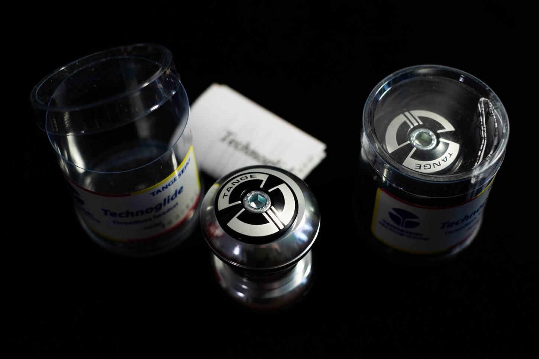 Tange Seiki 1 Zoll, Cartridge Aheadset, Steuersatz, Techno Glide, silber, schwarz