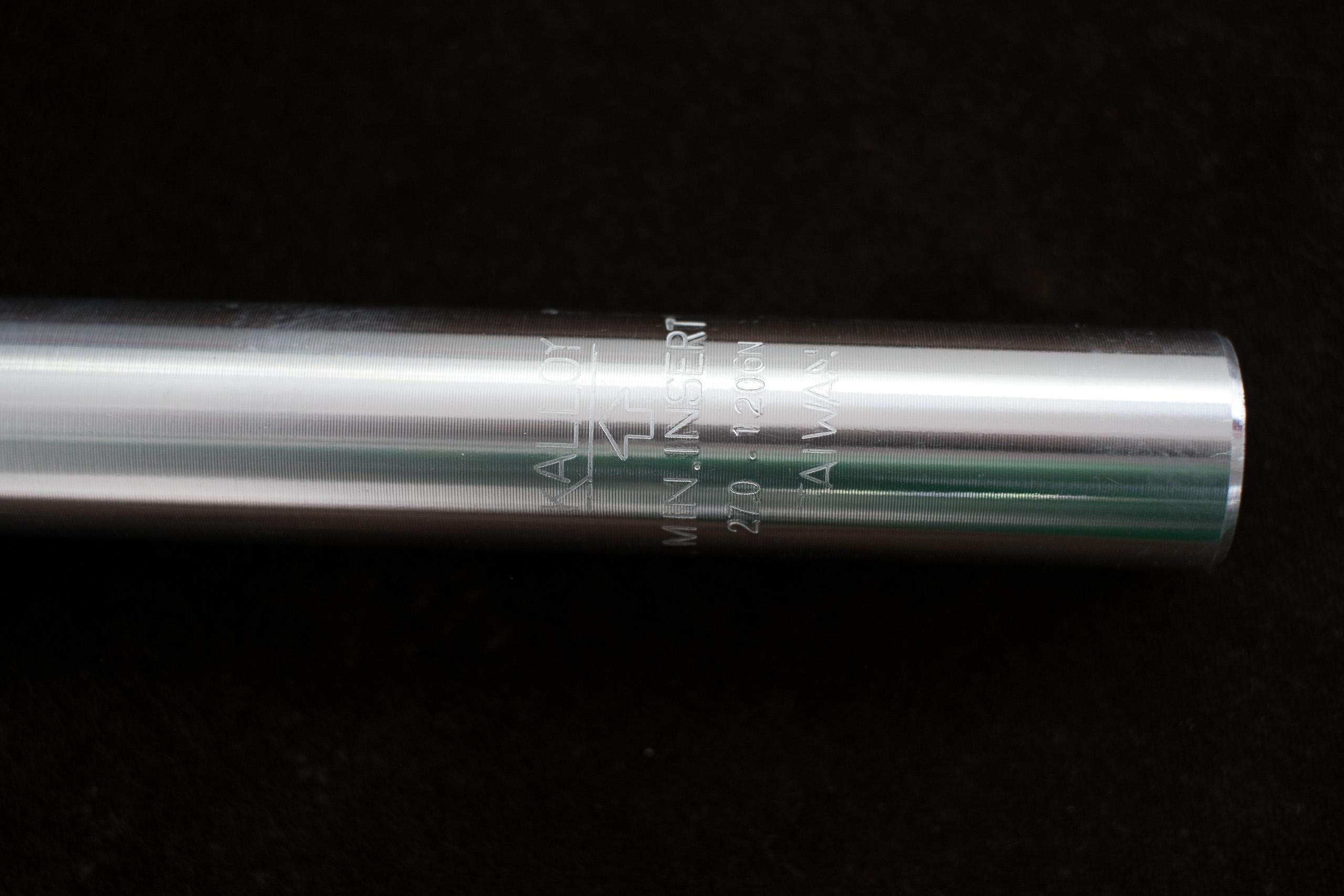 Alu Sattelstütze Sattelkerze 300mm Länge Durchmesser 25-31,8 mm silber,schwarz