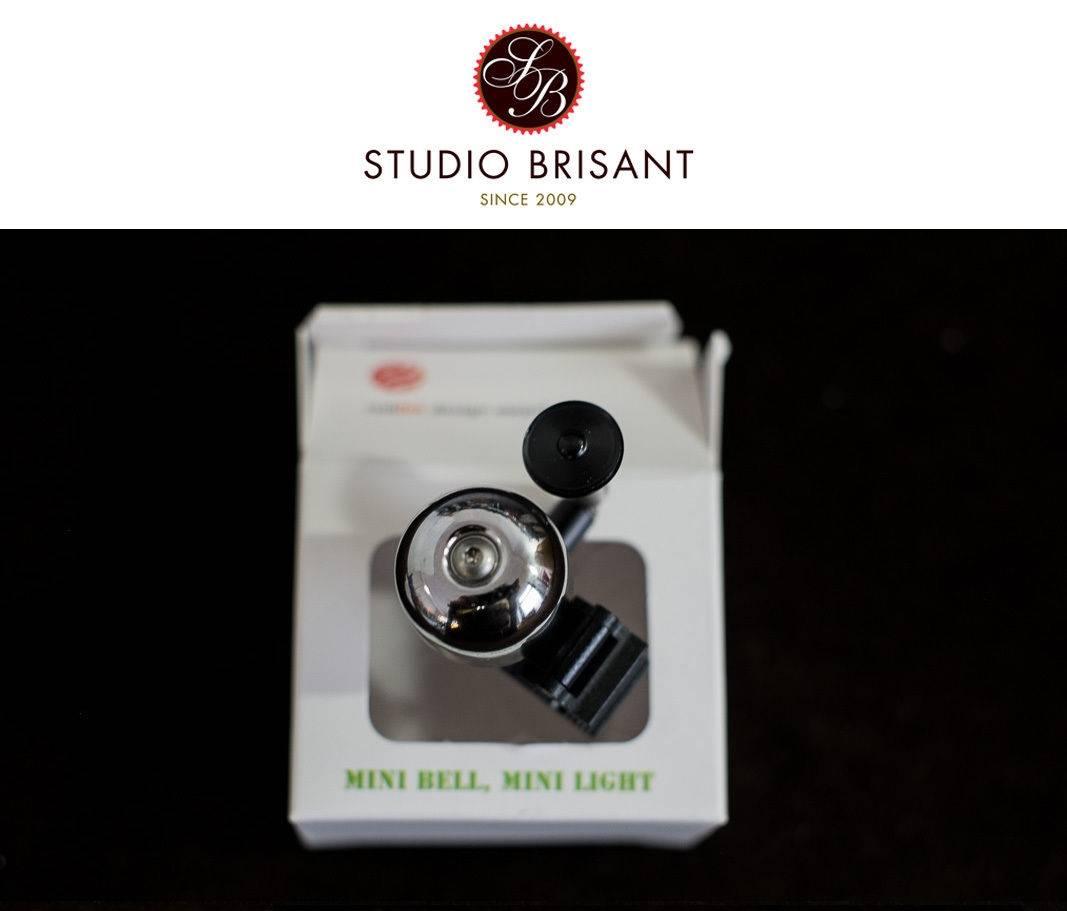 Clip Mini Messing Bell Glocke Klingel Rennrad zum anstecken - reddot design