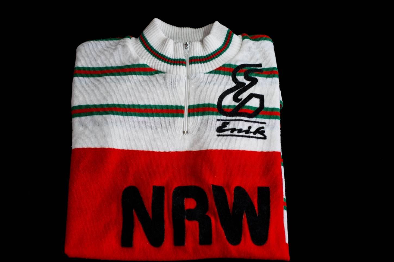 Maglia da strada d'epoca Enik NRW in jersey acrilico 100% manica corta