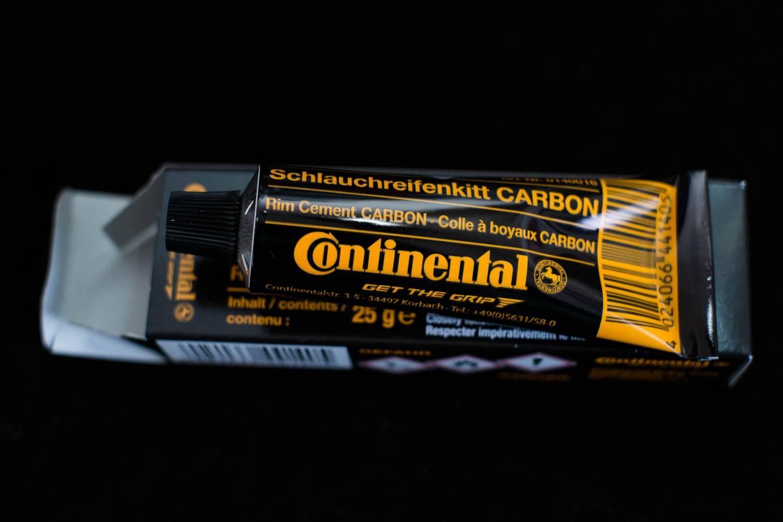 Continental Schlauchreifenkitt - Aluminium + Carbon 25 g Tube Rim Cement Conti (12,80€/100g)