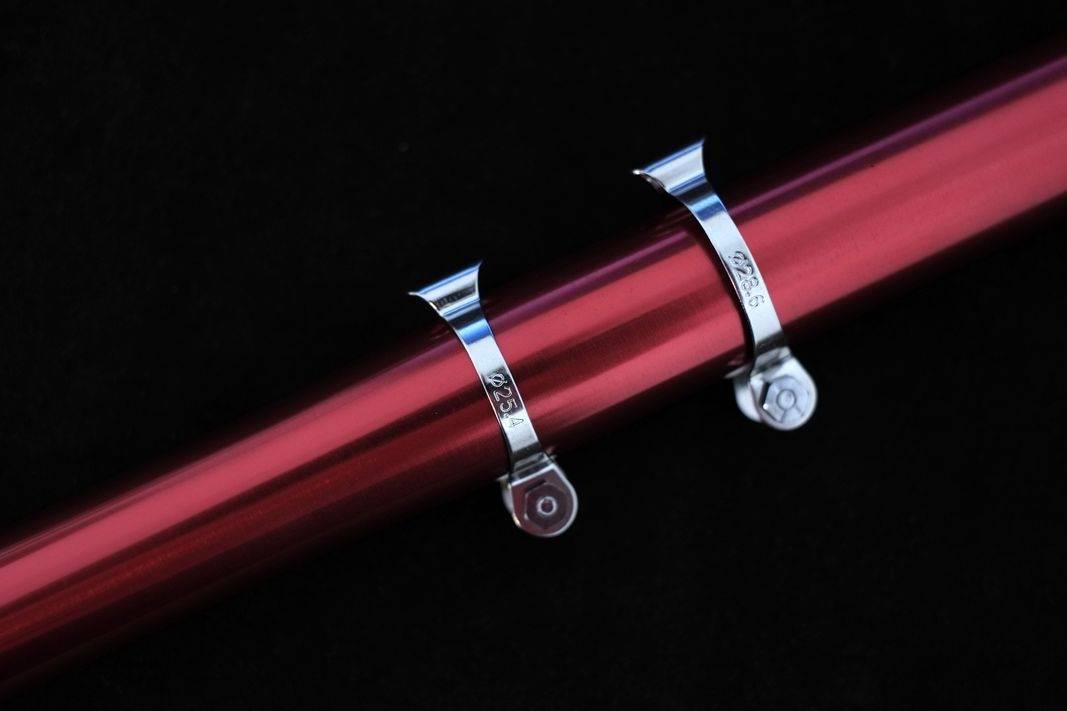 Tektro Bremszug Oberrohr Schellen Cable Clips silber in 25,4 - 28,6 - 31,8mm