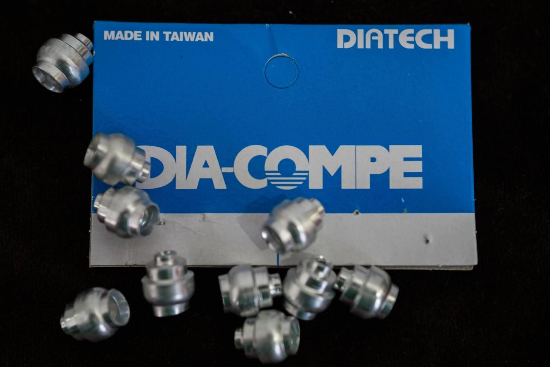 Dia-Compe, Bremshebel, Anschlaghülsen, Alu, Brake lever, Cable Ferrules, Alloy