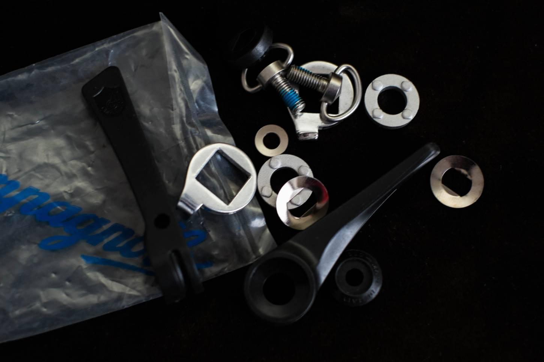 NOS Campagnolo Schalthebel aus Kunststoff Downtube Shifters black Plastic Vintage 80's Road Bike