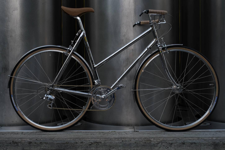 """Pedido del cliente / Studio Brisant """"No 7"""" damas Randonneur bicicleta de carreras en cromo completo"""
