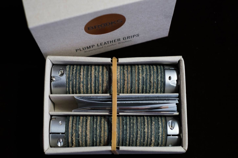 Manubrio Brooks Manubrio Impugnature in pelle Grassa Impugnature in pelle in nero + marrone + miele