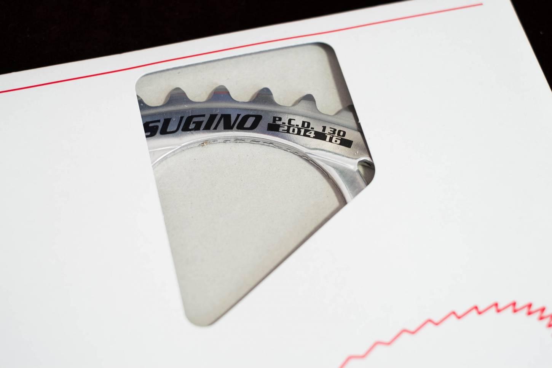 Sugino, Kettenblatt, LK 130 mm, 53 Z, silber, glänzend,