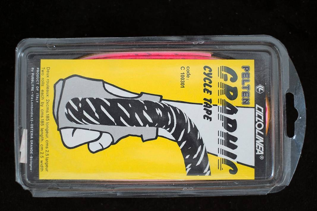 NOS 80th`s Style Vintage Lenkerband Pelten - Graphic Muster - Bar Tape grau + rot + grün