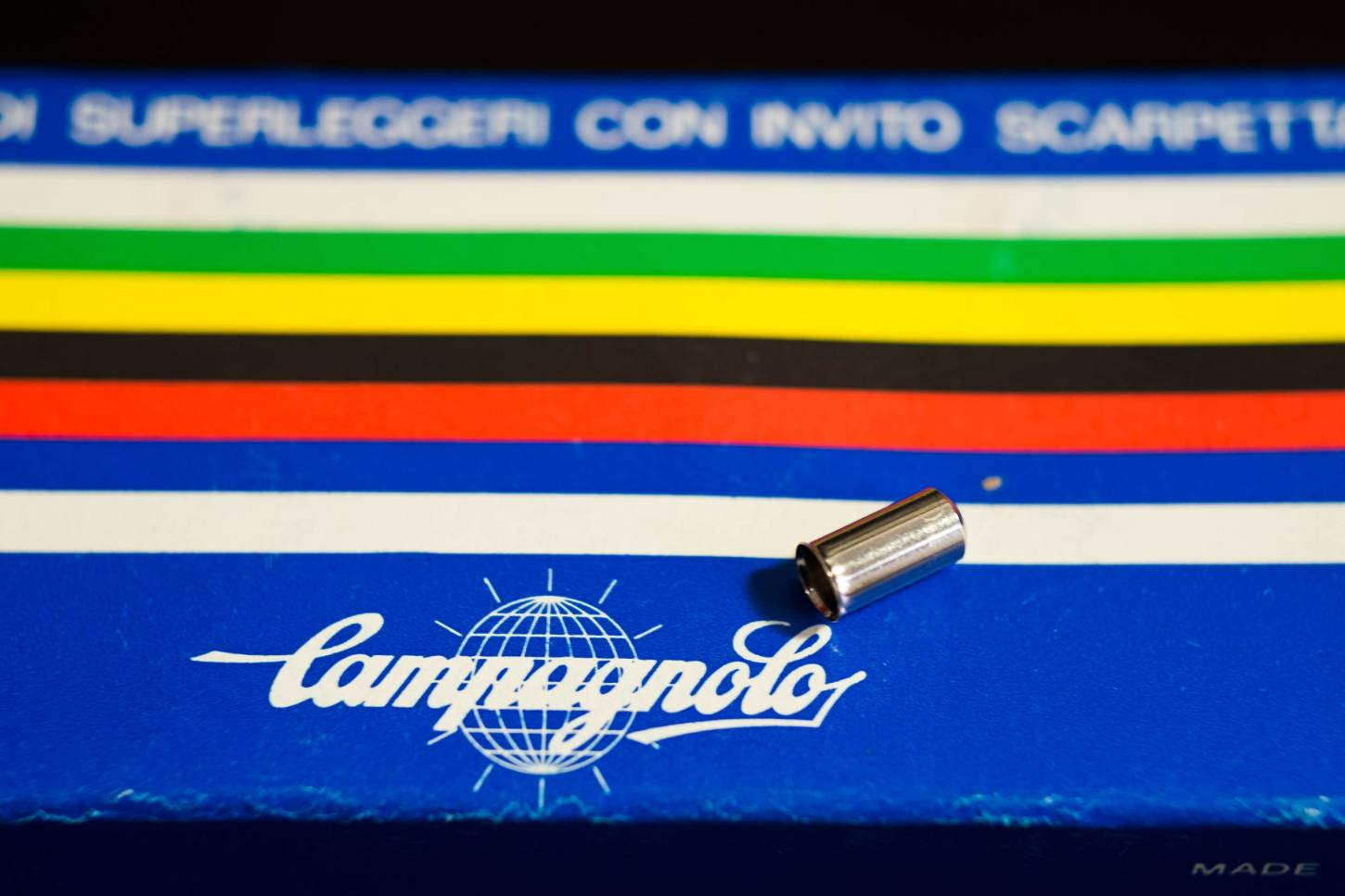 NOS Campagnolo Shift Housing End Cap for Clamp-on Stop End Ferrule #619