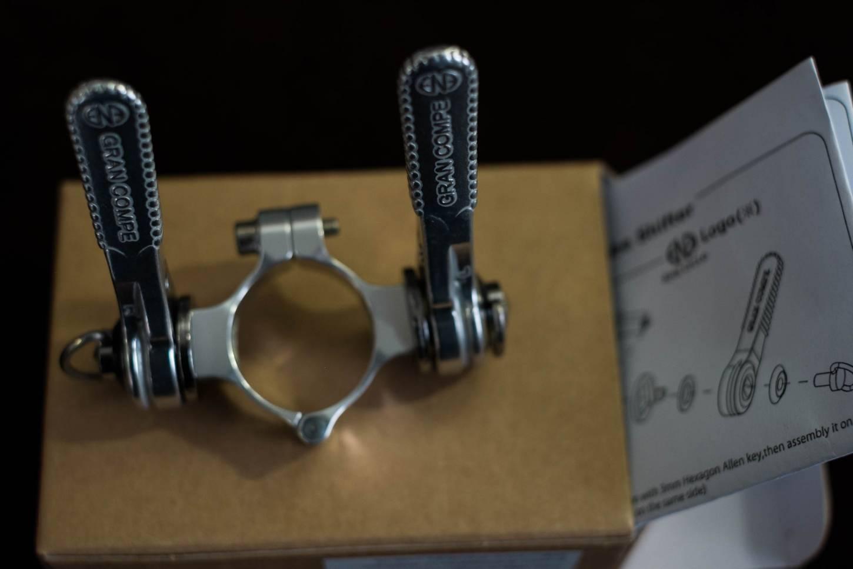 Dia-Compe, Schalthebel, Set, für 28,6mm, Unterrohr Montage