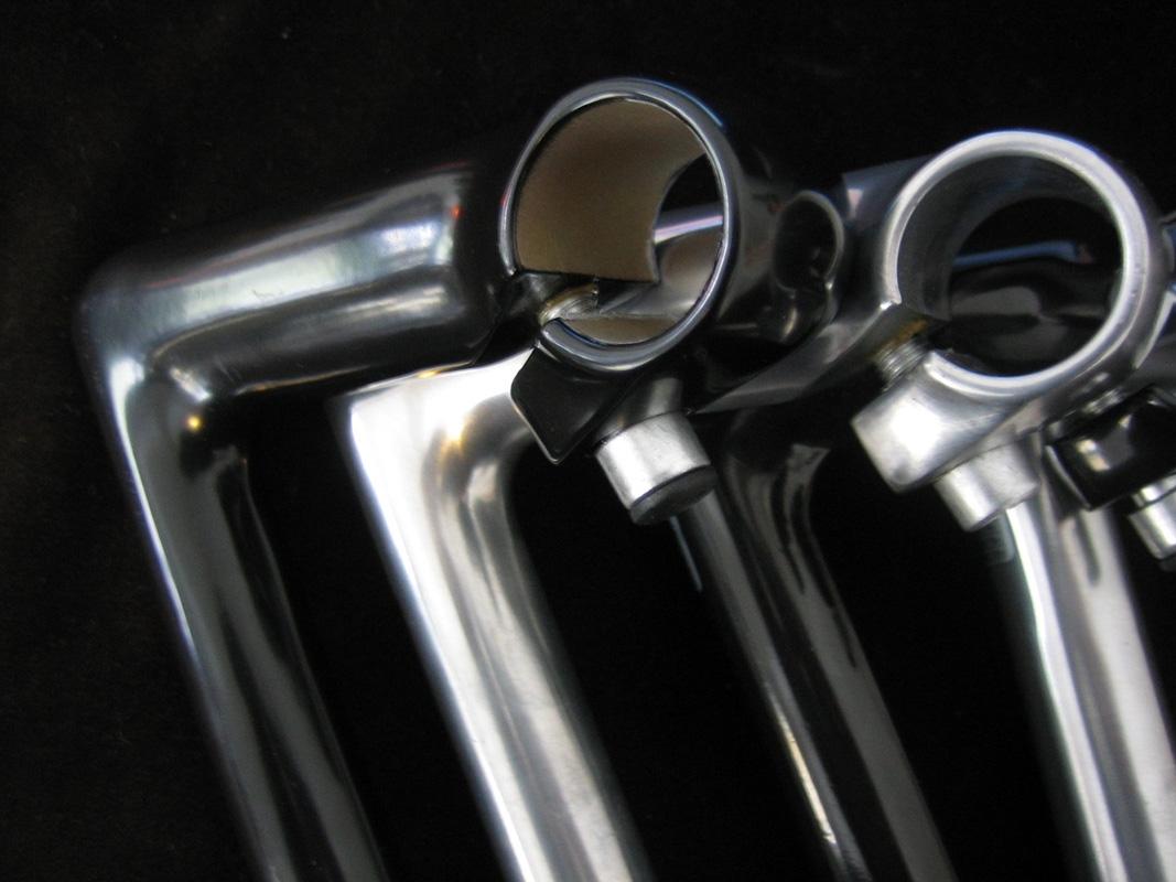 80//100mm Kalloy Retro Vorbau 1 Zoll 22,2 mm für Rennrad Singlespeed Fixie Silber
