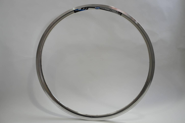 "Rigida DP 18 Felge 28"" (700c) Hochprofilfelge - in silber poliert + black"