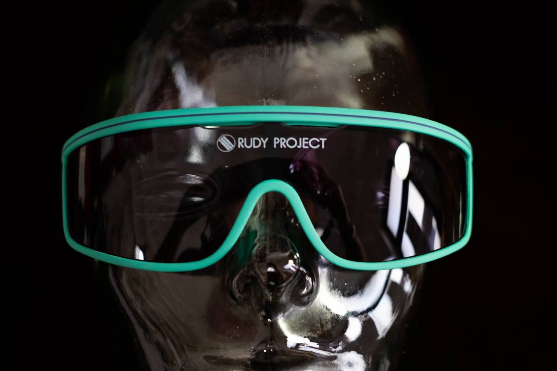 NOS Vintage Rudy Project Brille 80's L'Eroica Cycling Sunglasses-Grün-Schwarz