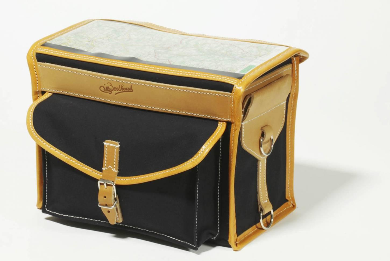 Gilles Berthoud 192 Lenkertasche Gepäcktasche schwarz + grau Front Handlebar Bag