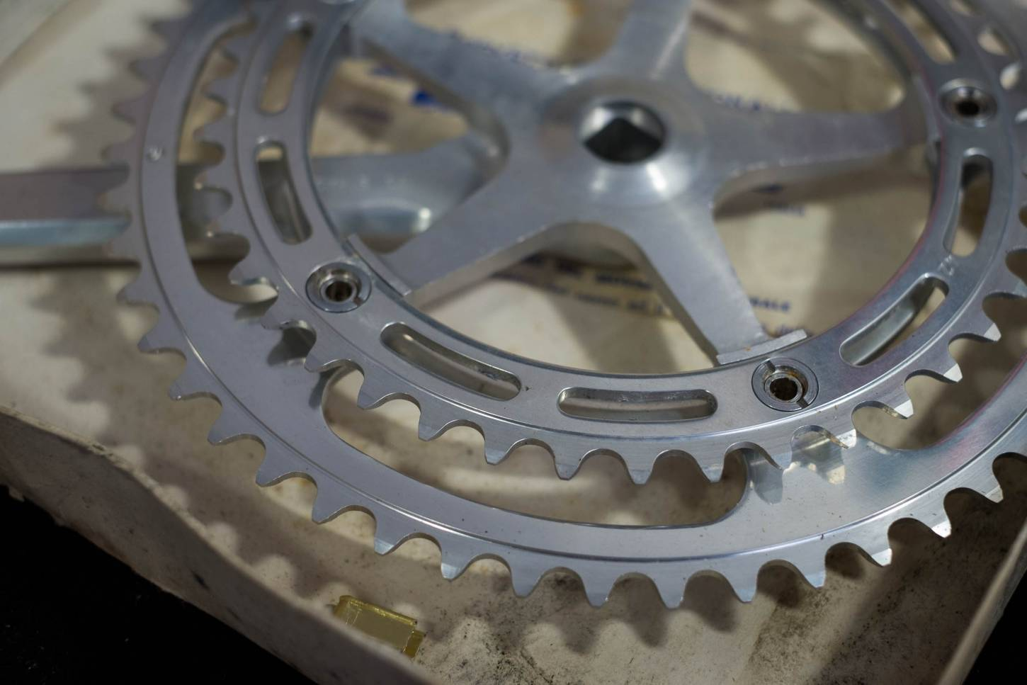 NOS Campagnolo 1049 Nuovo Record Strada crank set crankset 52/42 teeth LK 144 Vintage road bike
