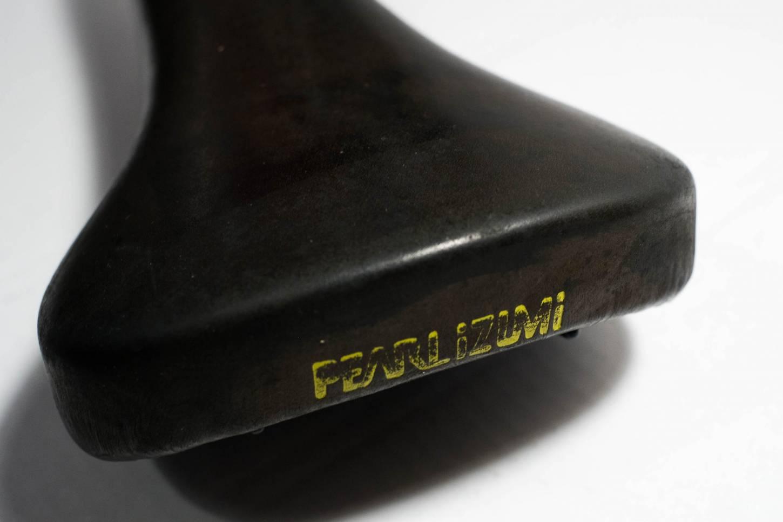 Selle Royal Pearl Izumi Sattel Racing Flolite schwarz Leder Vintage Rennrad