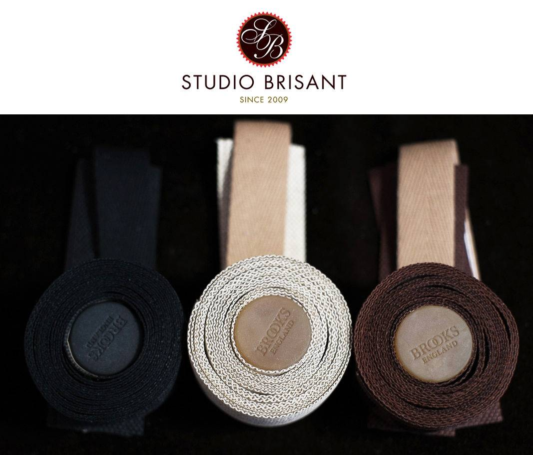 Brooks Cambium Lenkerband Tape & Plugs Organic Cotton in slate + rust + black + naturel