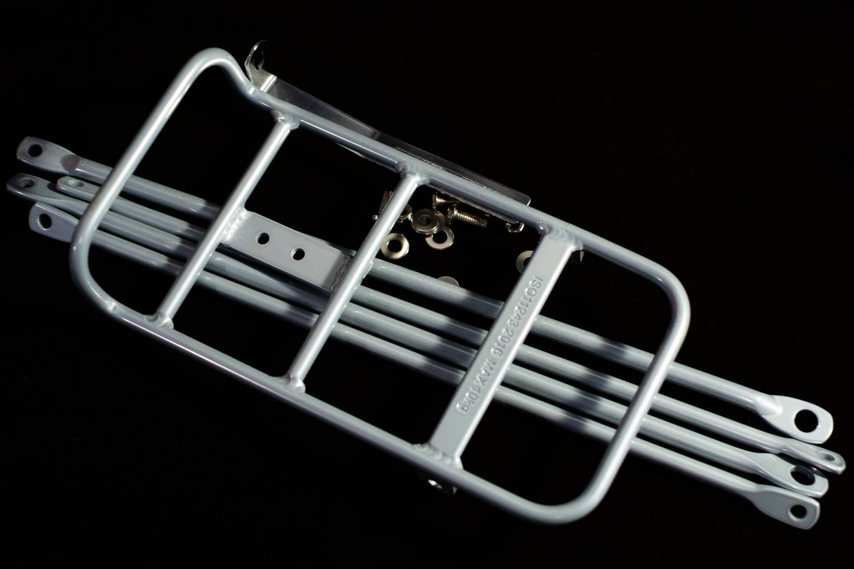 Front Rack VR Gepäckträger Aluminium in silber-grau + schwarz Singlespeed, Stadtrad