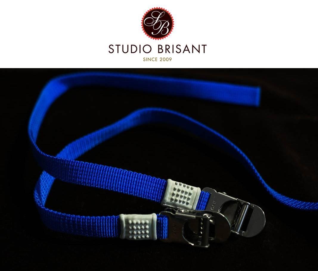 NOS Campagnolo Toe Straps blue Nylon Pedal Straps Pedal Straps blue