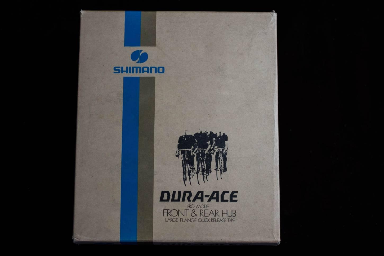 NOS Shimano Dura Ace Hub Set Hub Set 36 H First Gen. Black High Flange Vintage Road Bike