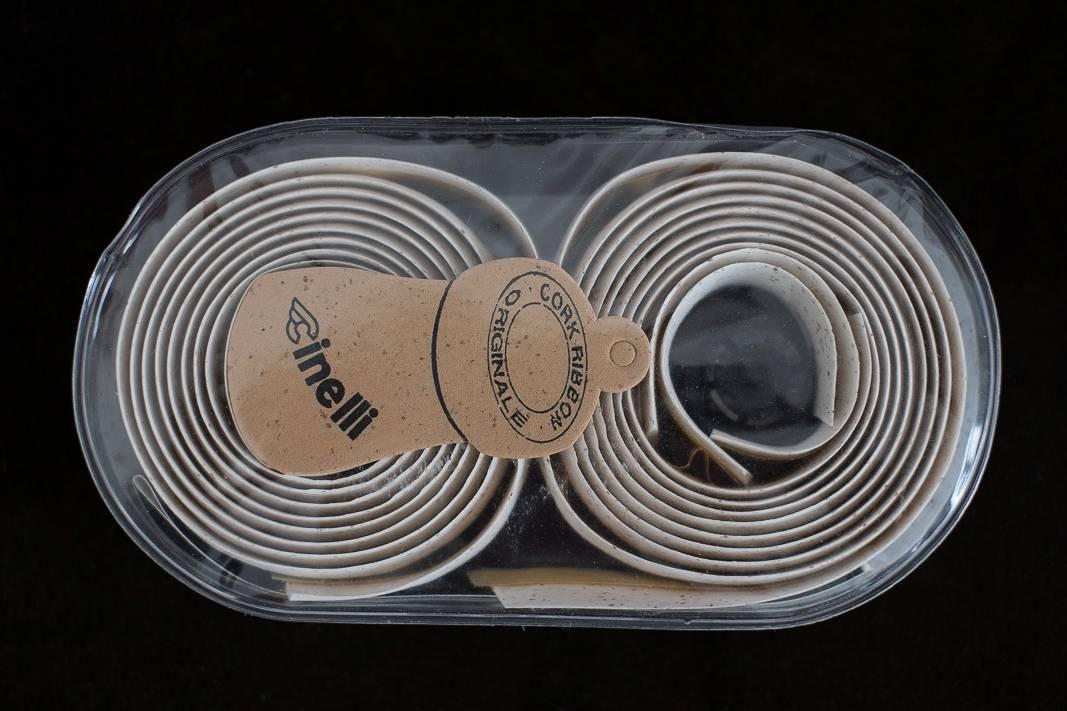 NOS Cinelli Lenkerband Cork Ribbon Vintage - Korkband - Bar Tape in weiß + rot
