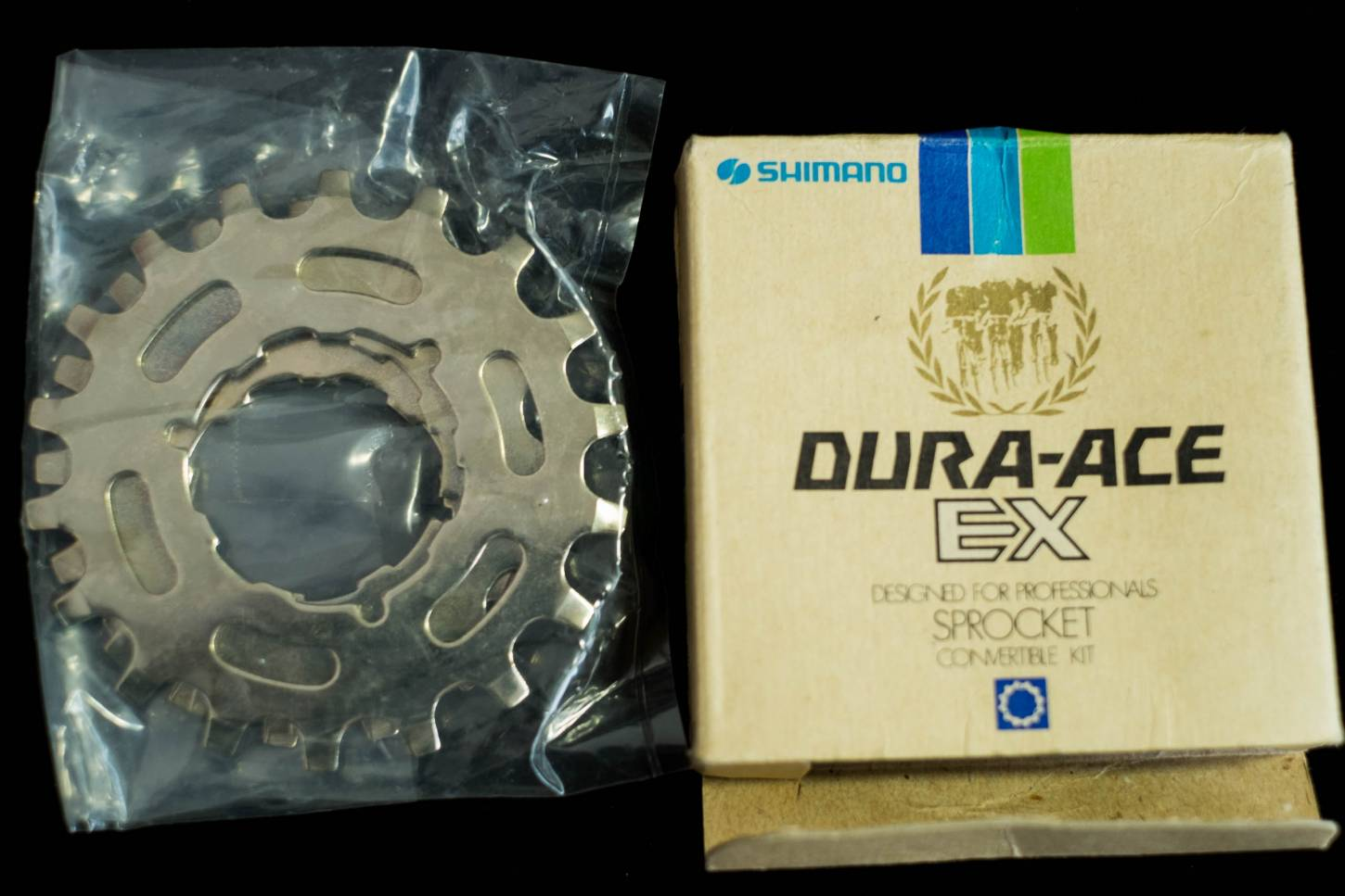 NOS Shimano Dura Ace EX Ritzel Kit Sprocket Convertible Kit Gold 14 + 16 + 18 T Vintage