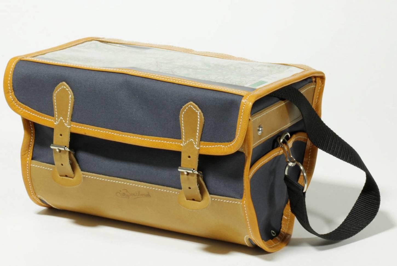 Gilles Berthoud 905 Lenkertasche Gepäcktasche schwarz + grau Front Handlebar Bag