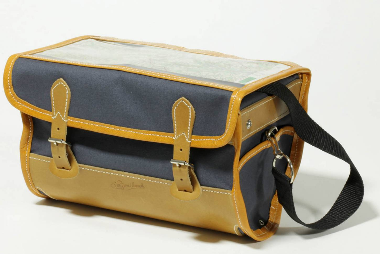 Gilles Berthoud 905 borsa a manubrio borsa bagaglio nera + grigio borsa a manubrio anteriore