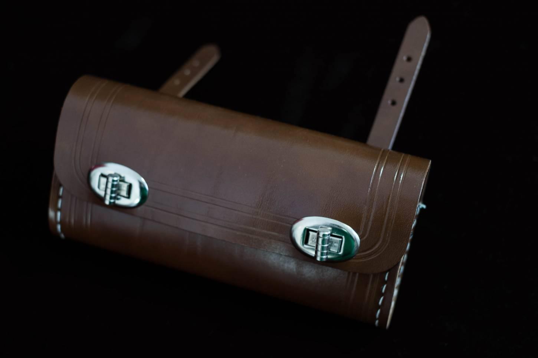 Retro Style Satteltasche Anhängetasche Rechteckig groß in Lefa Fahrrad Tasche antikbraun