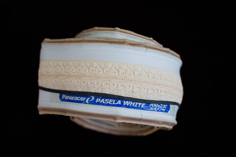 1x Panaracer Pasela TG Faltreifen weiß Kevlar 700 x 23C Reifen Singlespeed Fixie