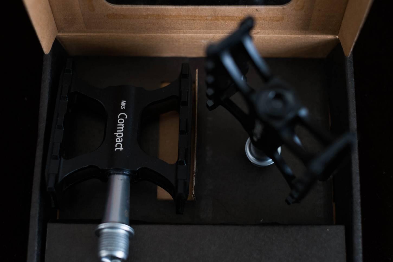 MKS Compact Pedale schwarz Aluminium CNC industriegelagert High End Pedals