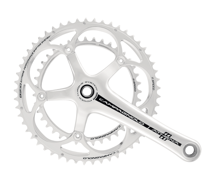 Campagnolo Athena Gruppe in silber / Group Set silver
