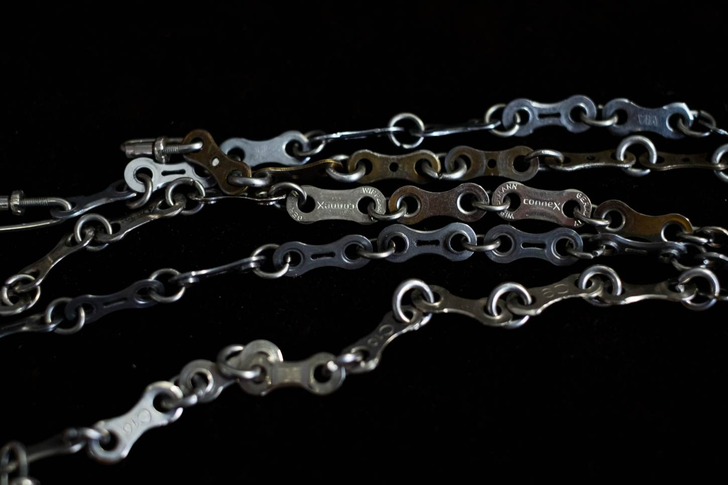 "bicycle chain bracelet ""Regina"" 100% handmade in Münster unisex 21 cm"