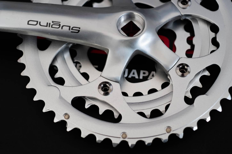 Sugino XD 600 T Kurbel Set 46/36/26T 175 mm Crankset black MTB Road Bike