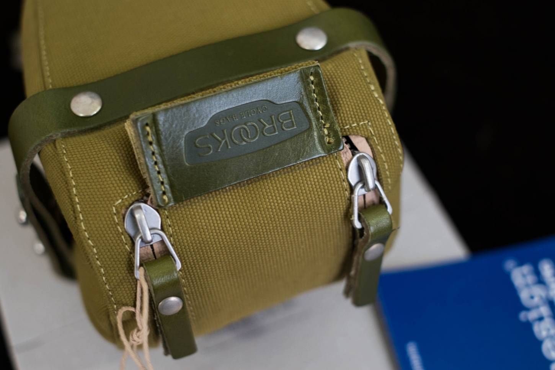 Brooks Satteltasche Isle of Wight grün Saddle Bag Small + Medium + Large