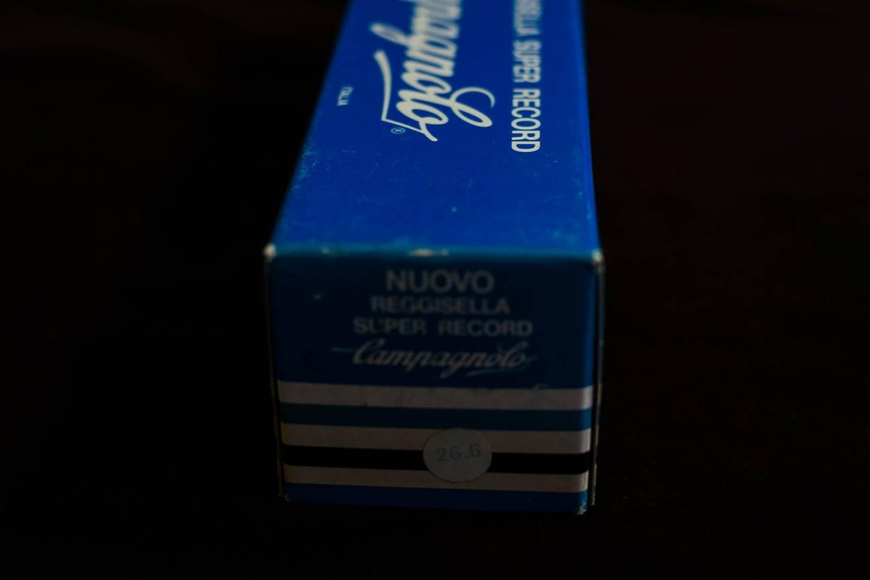 NOS Campagnolo Super Record Sattelstütze 26,6 mm Aluminium poliert Seatpost Vintage Rennrad