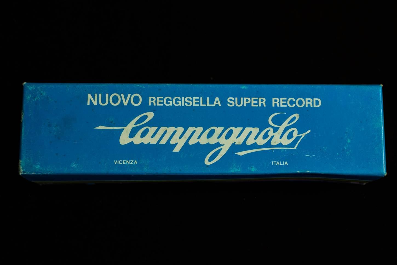 NOS Campagnolo Super Record Sattelstütze 25,8 mm geriffelt Aluminium poliert Seatpost Vintage Rennra