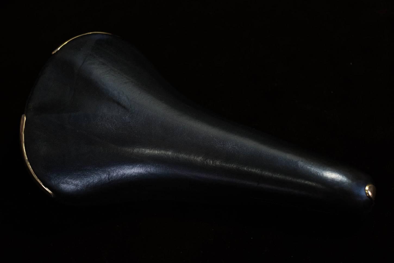 Campagnolo Electa Sattel Saddle leder Pneumatic dunkelbraun Vintage Rennrad