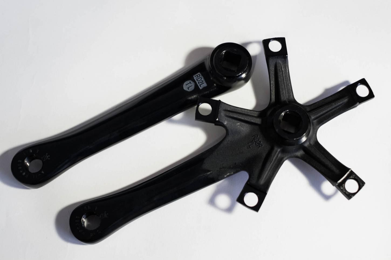 Sugino, RD2, Messenger, Kurbel, 2 Fach, 130 LK, 165, 170, 175 mm silber, schwarz